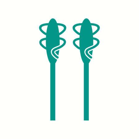 Unique Asparagus Vector Glyph Icon