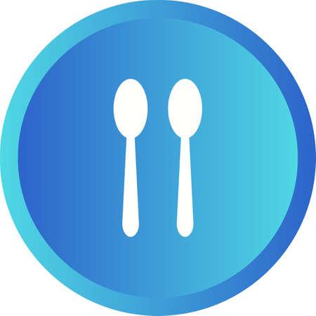 Unique Spoons Vector Glyph Icon