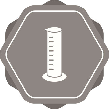 Unique Graduated Cylinder Vector Glyph Icon Çizim