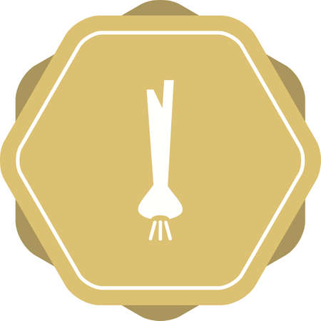 Unique Spring Onion Vector Glyph Icon