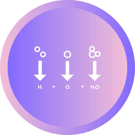 Unique Chemicals Formula Vector Glyph Icon