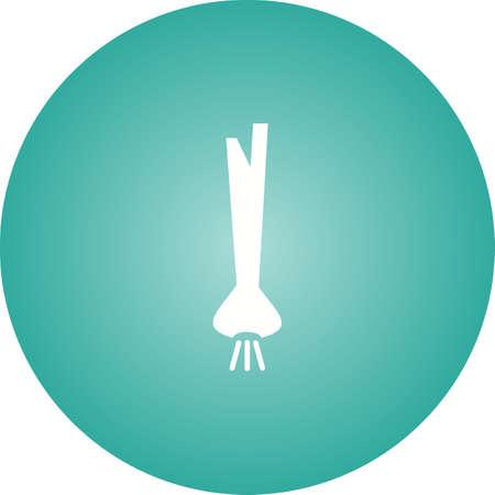 Unique Spring Onion Vector Glyph Icon 일러스트
