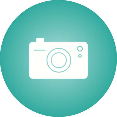 Unique Camera Vector Glyph Icon