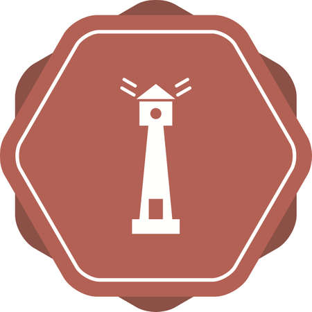 Unique Lighthouse Vector Glyph Icon