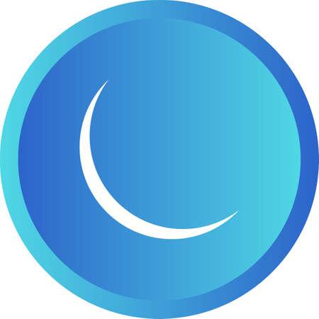 Unique New Moon Vector Glyph Icon 版權商用圖片 - 138922980