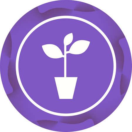 Unique Plant Vector Glyph Icon