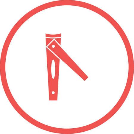Unique Nail Cutter Vector Glyph Icon