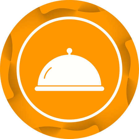 Unique Covered food Vector Glyph Icon