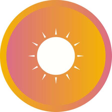Unique Sun Vector Glyph Icon Illustration