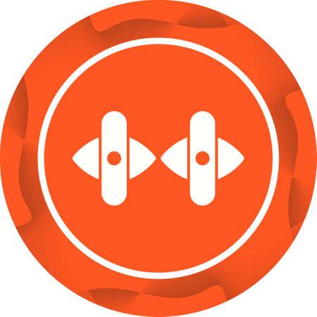 Unique Cuff Links Vector Glyph Icon