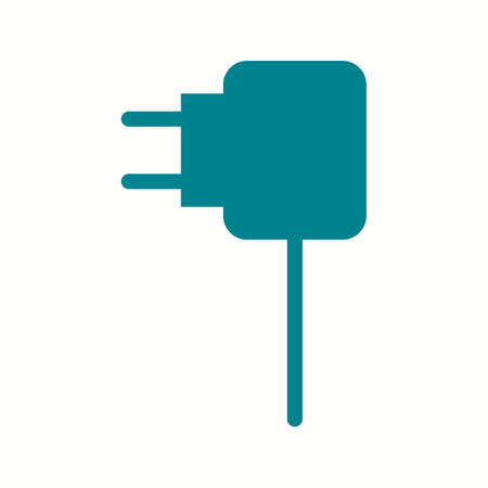Unique Charger Vector Glyph Icon 向量圖像