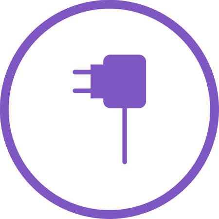 Unique Charger Vector Glyph Icon
