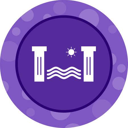 Unique Hydro Power Vector Glyph Icon