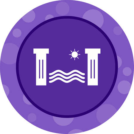 Unique Hydro Power Vector Glyph Icon