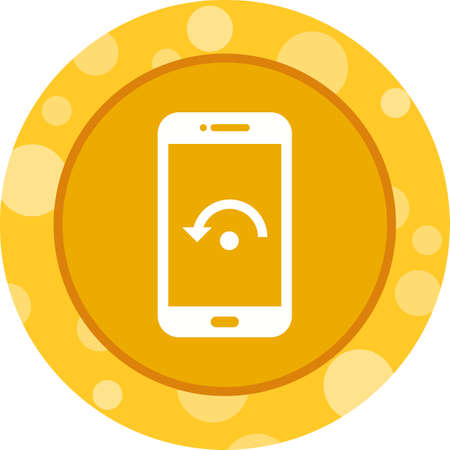 Unique Restart Phone Vector Glyph Icon Illustration