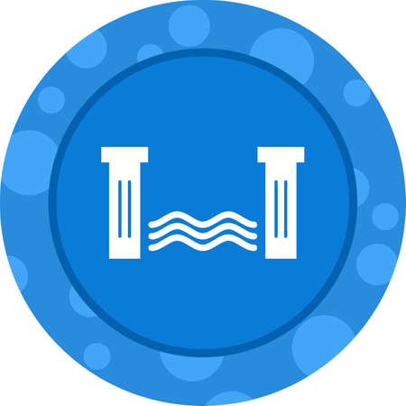 Unique Water Dam Vector Glyph Icon