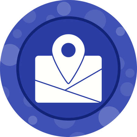 Unique Map Vector Glyph Icon