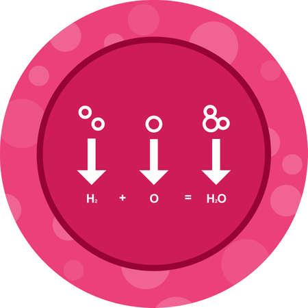 Unique Chemicals Formula Vector Glyph Icon