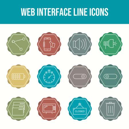 Jeu d'icônes vectorielles belle interface Web