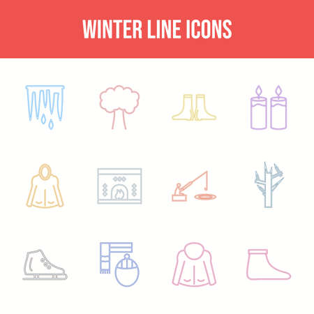 Beautiful Winter vector icon set