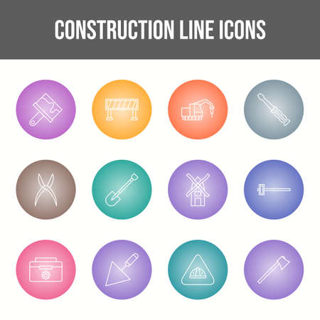 Beautiful Construction vector icon set