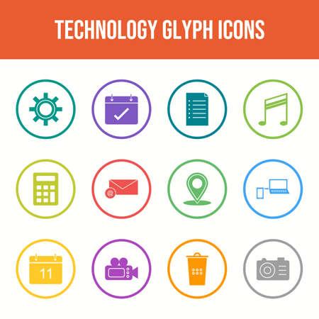 Unique Technology Line Icons Set