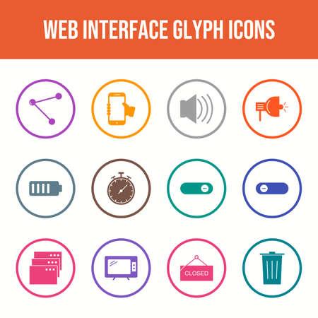 Beautiful Web Interface vector icon set Vecteurs