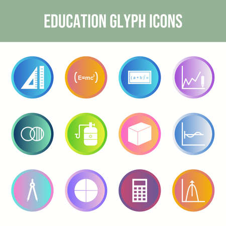Beautiful 12 Education Vector Icons