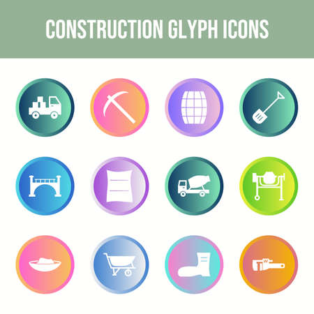 Beautiful Construction vector icon set