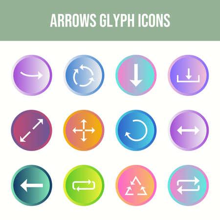 Beautiful Arrows vector icon set Ilustração