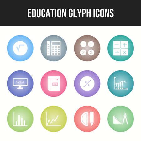 Unique Set of Education Icons Иллюстрация