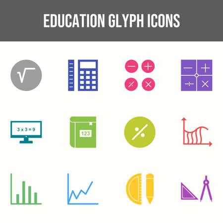 Unique Set of Education Icons Ilustração