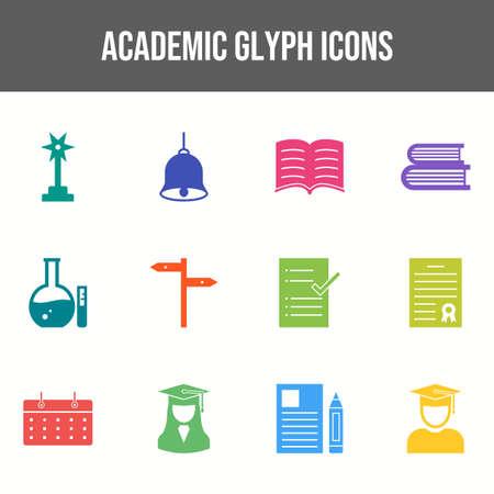 Beautiful Academic vector icon set