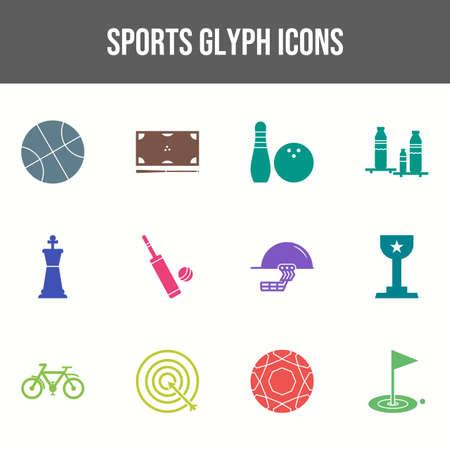 Beautiful Sports vector icon set