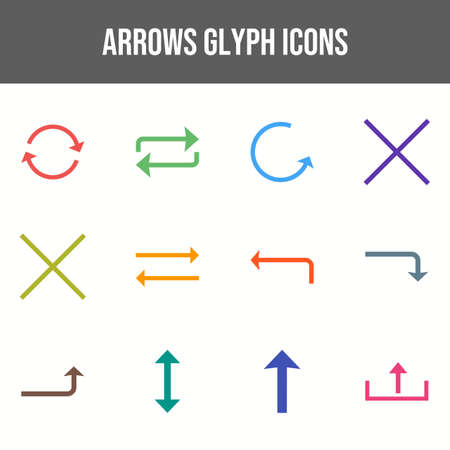 Beautiful Arrows vector icon set Иллюстрация