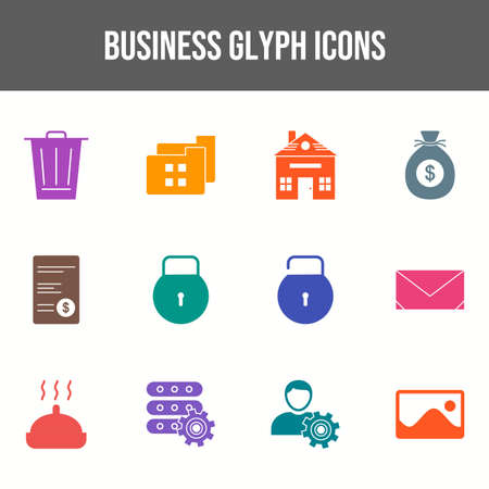 Beautiful Business vector icon set