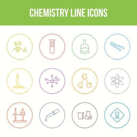 Unique chemistry vector line icon set Vektorgrafik