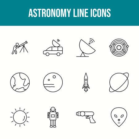 Unique astronomy vector line icon set 版權商用圖片 - 148430340