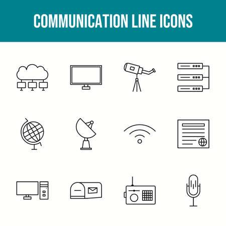 Unique communication vector line icon set 版權商用圖片 - 148430472