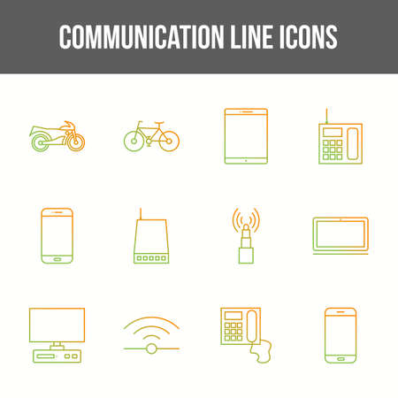 Unique communication vector line icon set 版權商用圖片 - 148430549