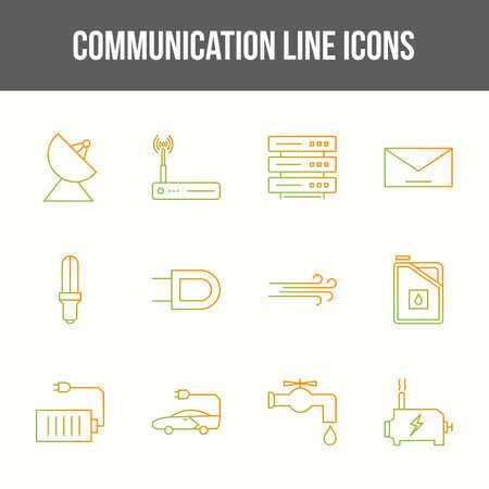 Unique communication vector line icon set 版權商用圖片 - 148430551