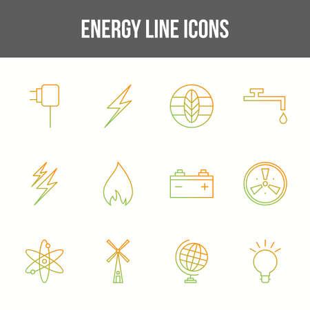 Unique energy vector line icon set 版權商用圖片 - 148430558