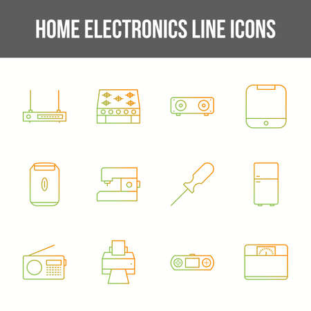 Unique home electronics vector line icon set 版權商用圖片 - 148430657