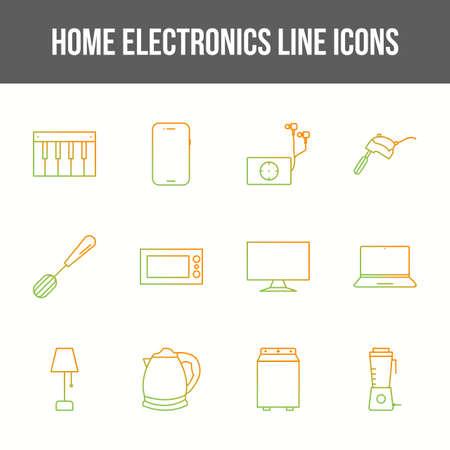 Unique home electronics vector line icon set 版權商用圖片 - 148430658