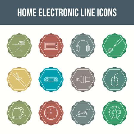 Unique home electronic vector line icon set 版權商用圖片 - 148430661