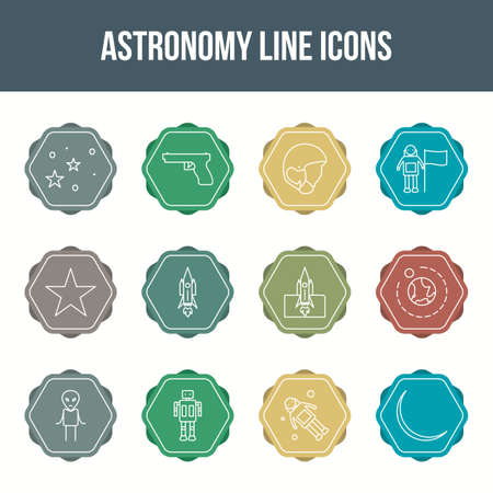 Unique astronomy vector line icon set 版權商用圖片 - 148430692