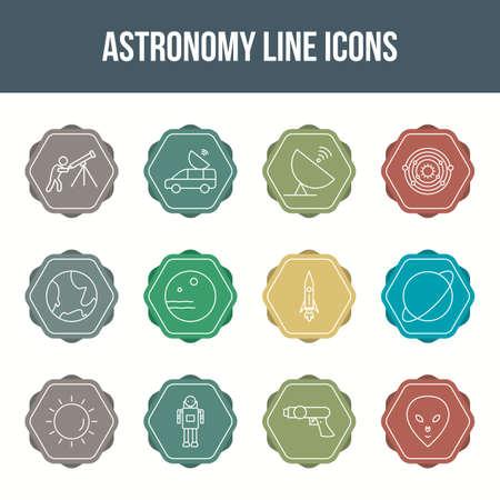 Unique astronomy vector line icon set 版權商用圖片 - 148430693