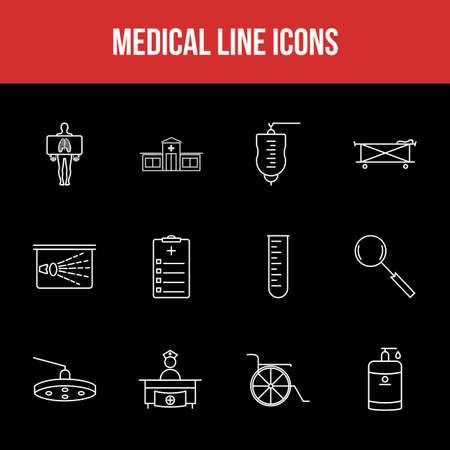 Unique Medical Line icon set 版權商用圖片 - 152866673