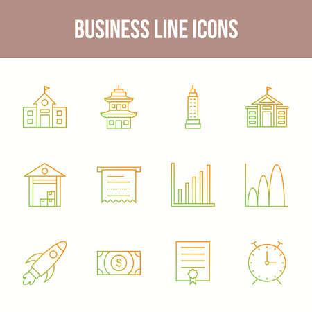 Unique Business Line icon set 版權商用圖片 - 152866570