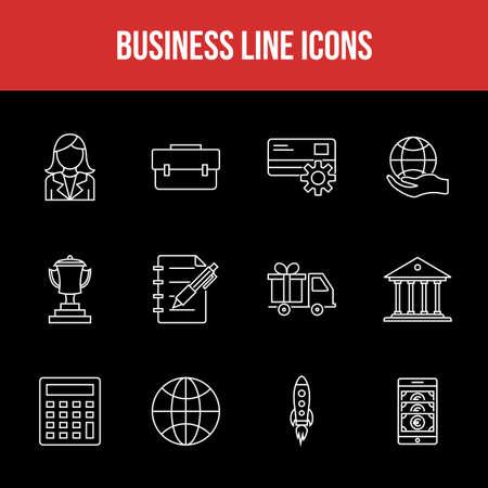 Unique Business Line icon set